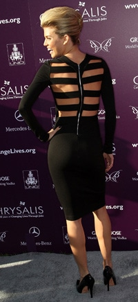 Annalynne McCord in a Kimberly Ovitz Cage Dress