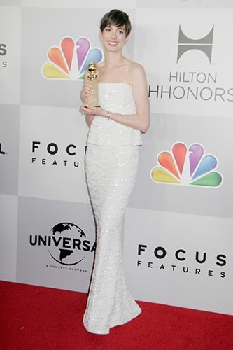 Anne Hathaway at the 2013 golden globes