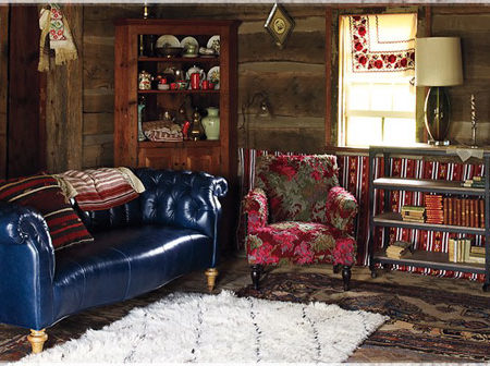 Living room design by Anthropologie