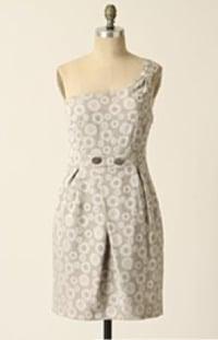 Anthropologie one shoulder dress