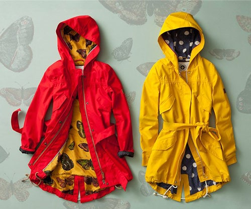 Anthropologie hooded rain jackets