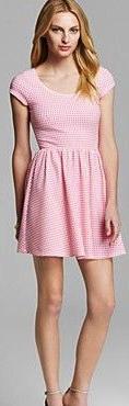Aqua gingham dress