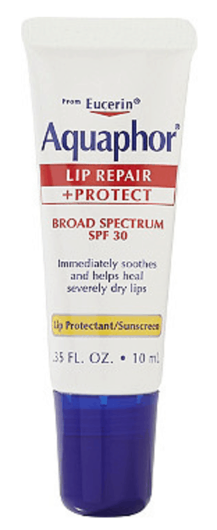 Best drugstore lip balm with SPF: Aquaphor Lip Repair and Protect balm SPF 30