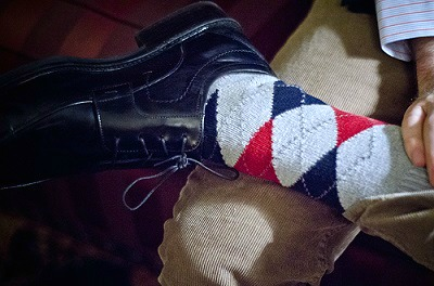 Argyle socks menswear trend