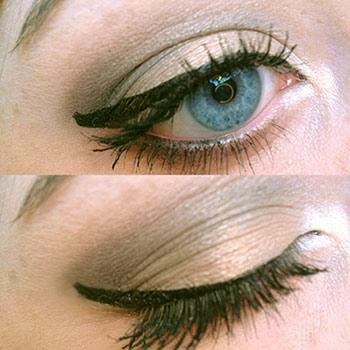Army green eyeshadow closeup