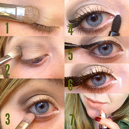 Army green makeup steps
