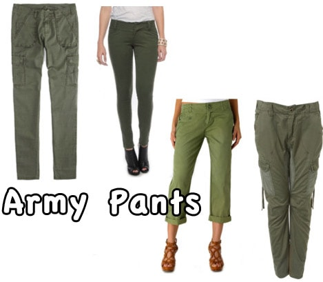 How to wear the Army Pants trend for fall