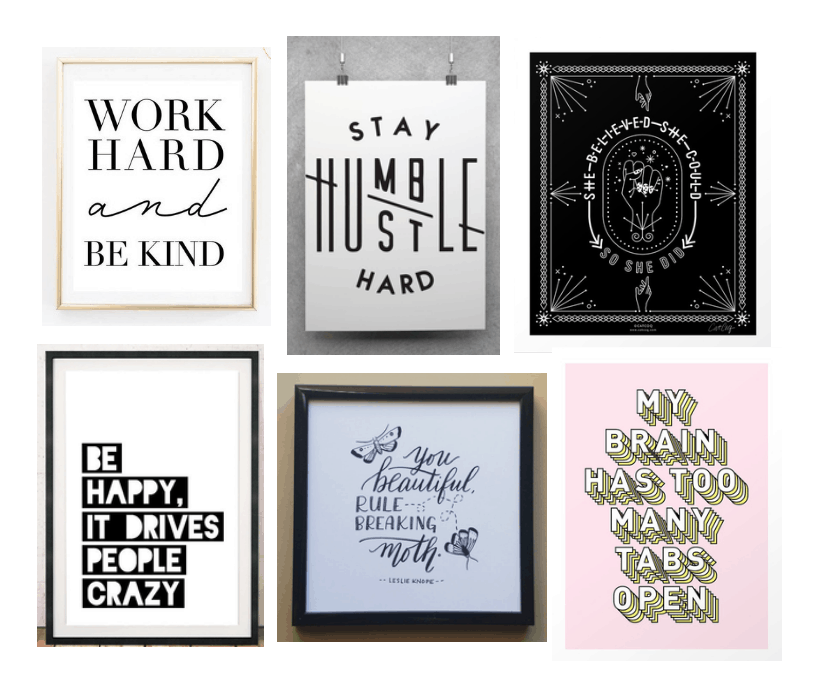 Spring Cleaning Work Desk Decorating - Art Print - Etsy, Society6