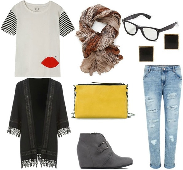 Artsy chic outfit