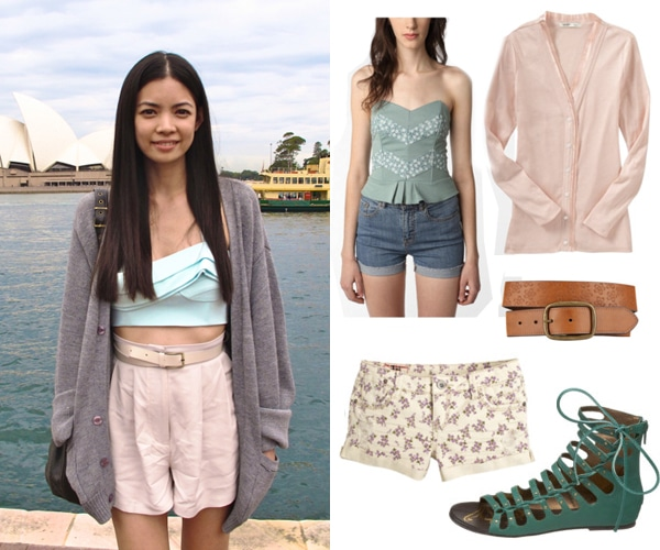 Street style outfit - pretty pastels