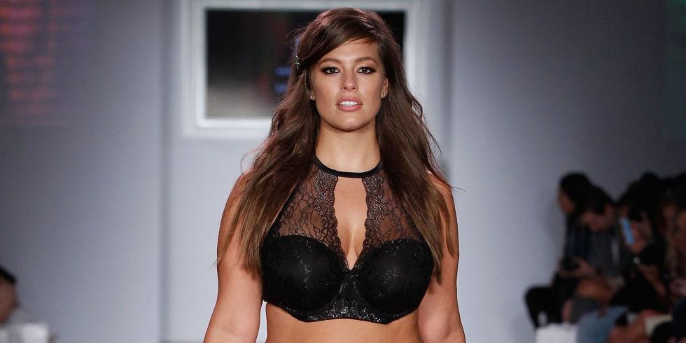Ashley Graham modeling during New York Fashion Week