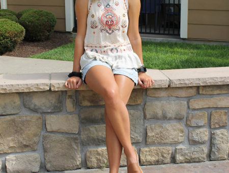 West Virginia University student Ashton shows off her back-to-campus style