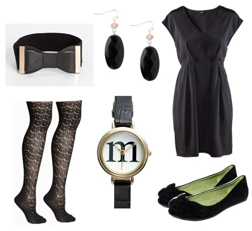Ask CF-All Black Work Outfit-Dress