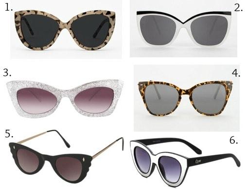 Ask cf cat eye sunglasses