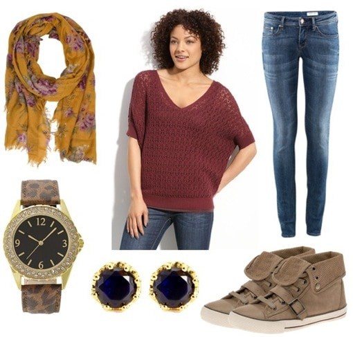 ask cf-fashionable sneakers-scarf outfit