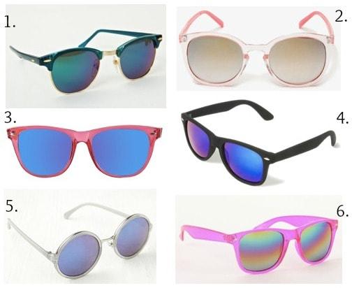 Ask cf mirrored sunglasses