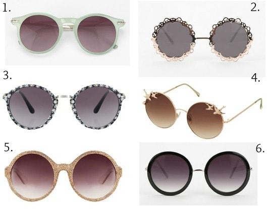 Ask cf round sunglasses