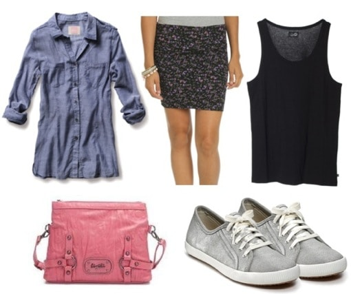 Ask CF-Sneakers-Skirt Outfit