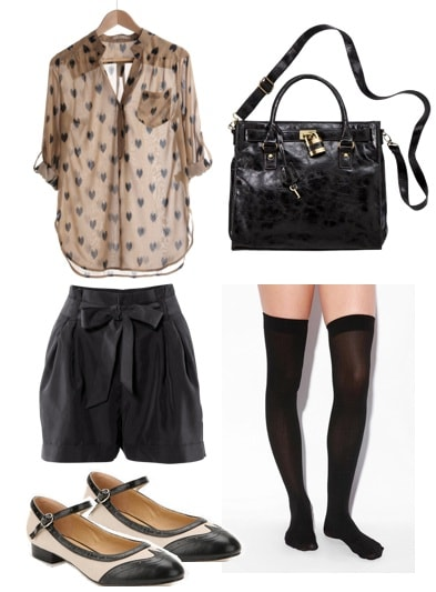 Ask CF-Thigh High Socks-Shorts 2-Outfit