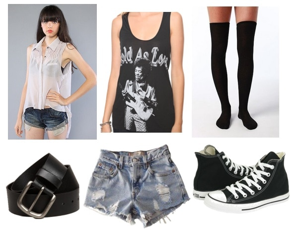 Ask CF-Thigh High Socks-Shorts-Outfit