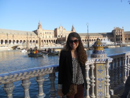 Fashion while touring in Seville, Spain