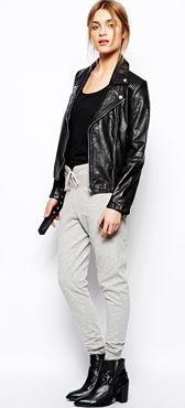 Asos gray track pants