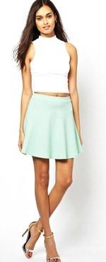 Asos mint mini skirt