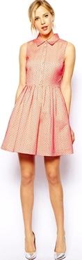 Asos pink shirt dress