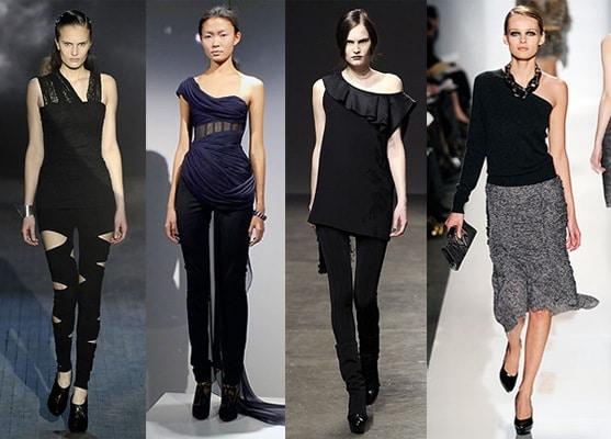 Asymmetrical tops - fall 2009 fashion trend
