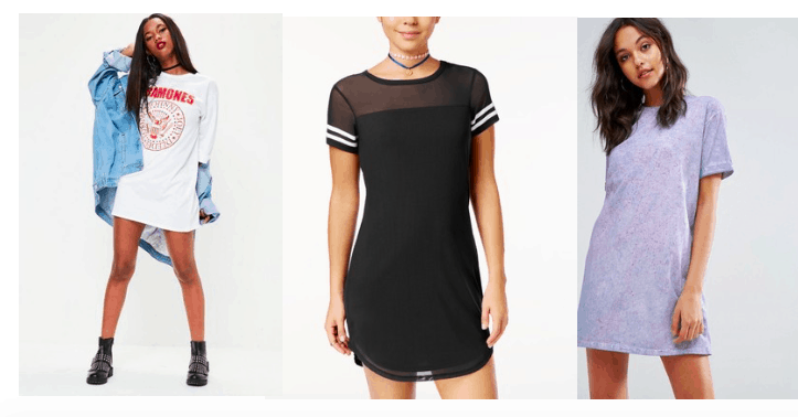 414ec30382c7 Athleisure t shirt dresses trend. How to style a t shirt dress for day and  night