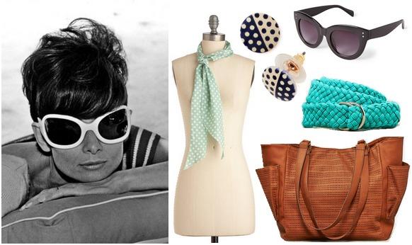 Audrey Hepburn inspired summer accessories