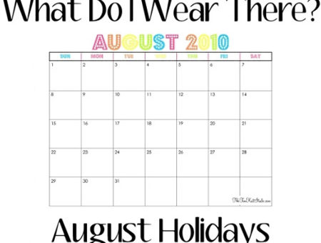 August 2010 Calendar with Holidays