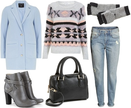 Baby blue coat outfit