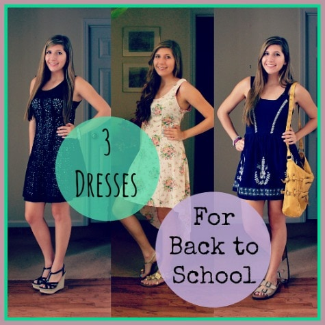 How to Wear 3 Cute Back,to,School Dresses , College Fashion