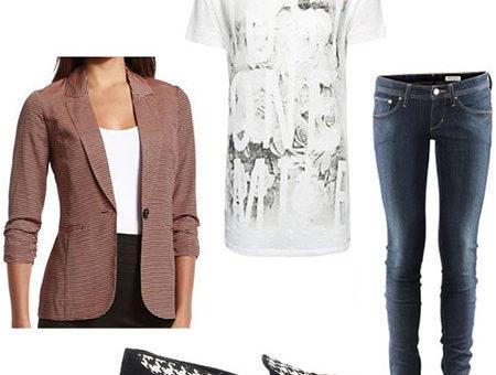 Back to school outfit 1: Fresh take on a boyfriend blazer
