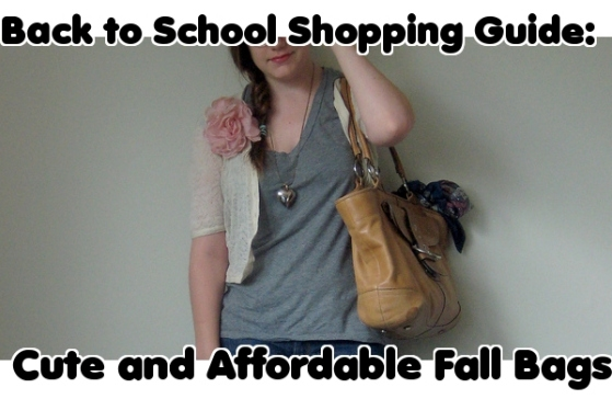 Back to School Shopping Guide Fall Bags
