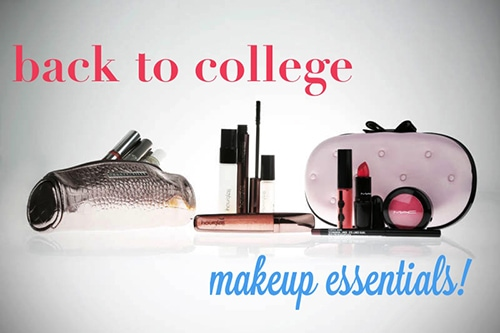 Back to college makeup essentials