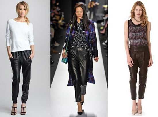 Baggy leather pants trend