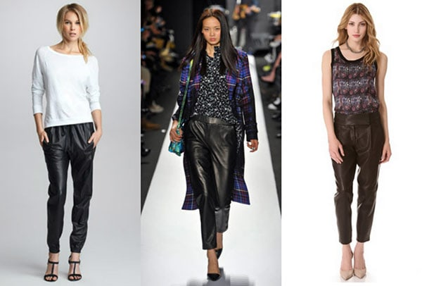 Wear you Trendswould baggy faux leather pants fotos
