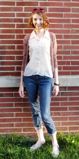 College street style fashionista at Ball State University