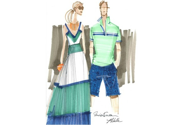 Banana republic milly collection sketch