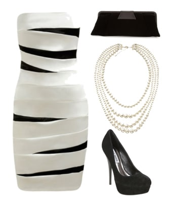 Bandage style dress for a spring formal