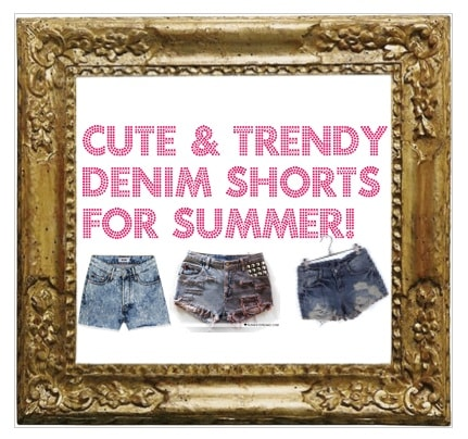 Cute and trendy denim shorts for summer
