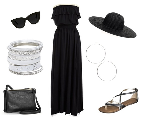 Barbeque outfit black maxi