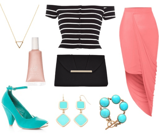 bardot top night out look