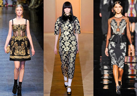 The baroque print trend on the runway