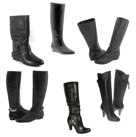 Basic Black Leather Winter Boots