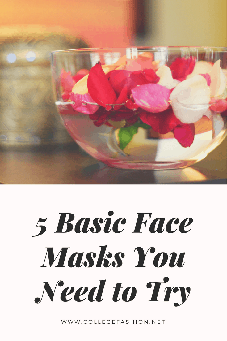 The 5 Basic face masks you need to try this semester