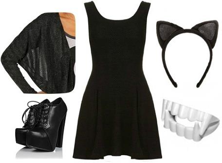 Bat halloween costume - black dress Halloween costume ideas