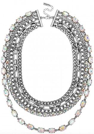Baublebar chain bib statement necklace